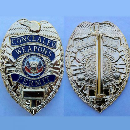 Concealed Weapons Permit Badge Silver