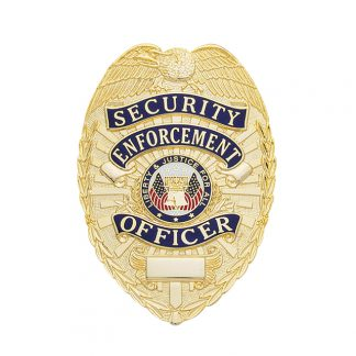 Security Enforcement Officer Badge Leather Holder