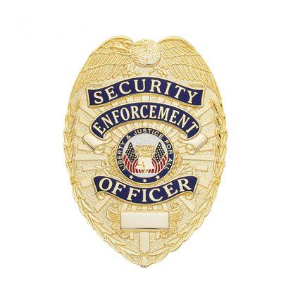Security Enforcement Officer Badge Leather Holder