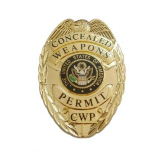 Concealed Weapons Permit CWP Badge