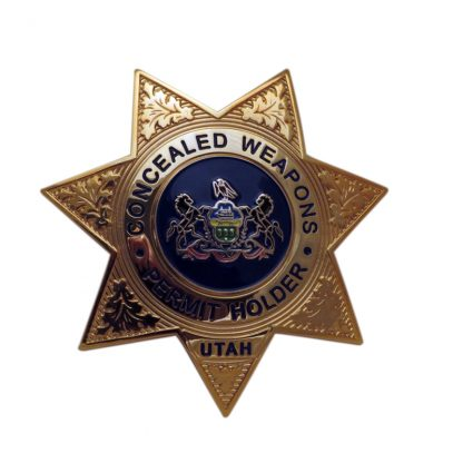 Concealed Weapons Permit Holder Badge Utah Seven Pointed Stars