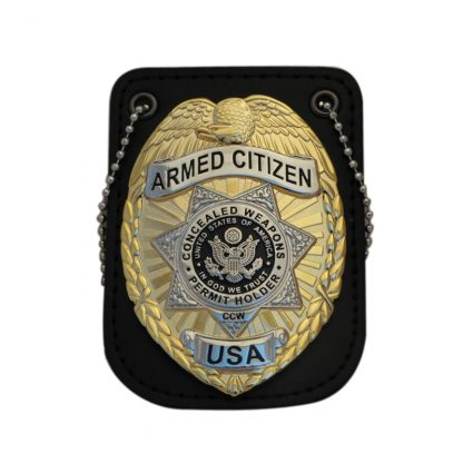 Armed Citizen Concealed Weapons Permit Holder CCW Badge
