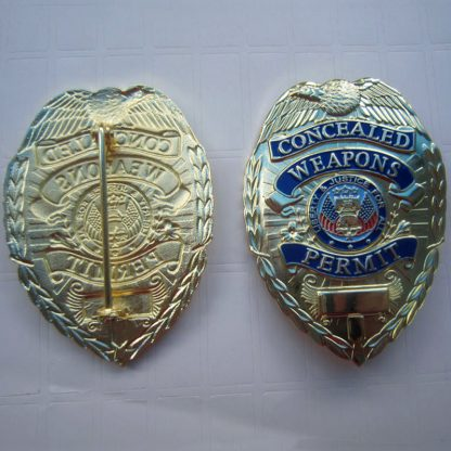 concealed carry weapons permit badge