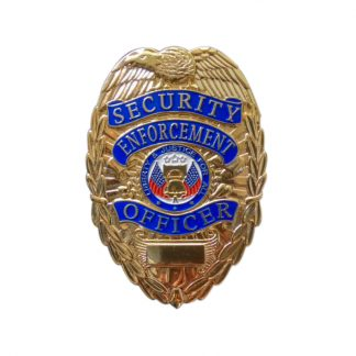Security Enforcement Officer Brass Gold Plating Badge