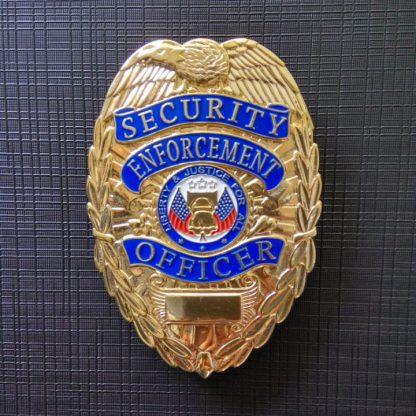 Security Enforcement Officer Brass Gold Plating Badge