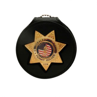 Concealed Weapons Permit Holder CCW Gold Badge