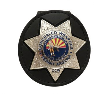 Concealed Weapons Permit Holder CCW Silver Badge
