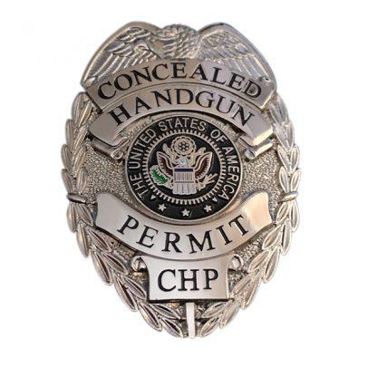 Concealed Handgun Permit CHP Badge
